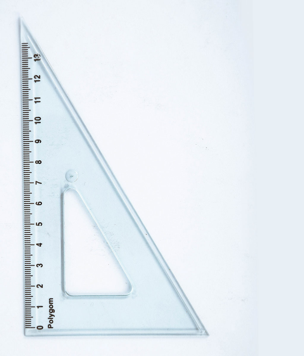 Équerre 60° -graduation 15 cm E 15/60