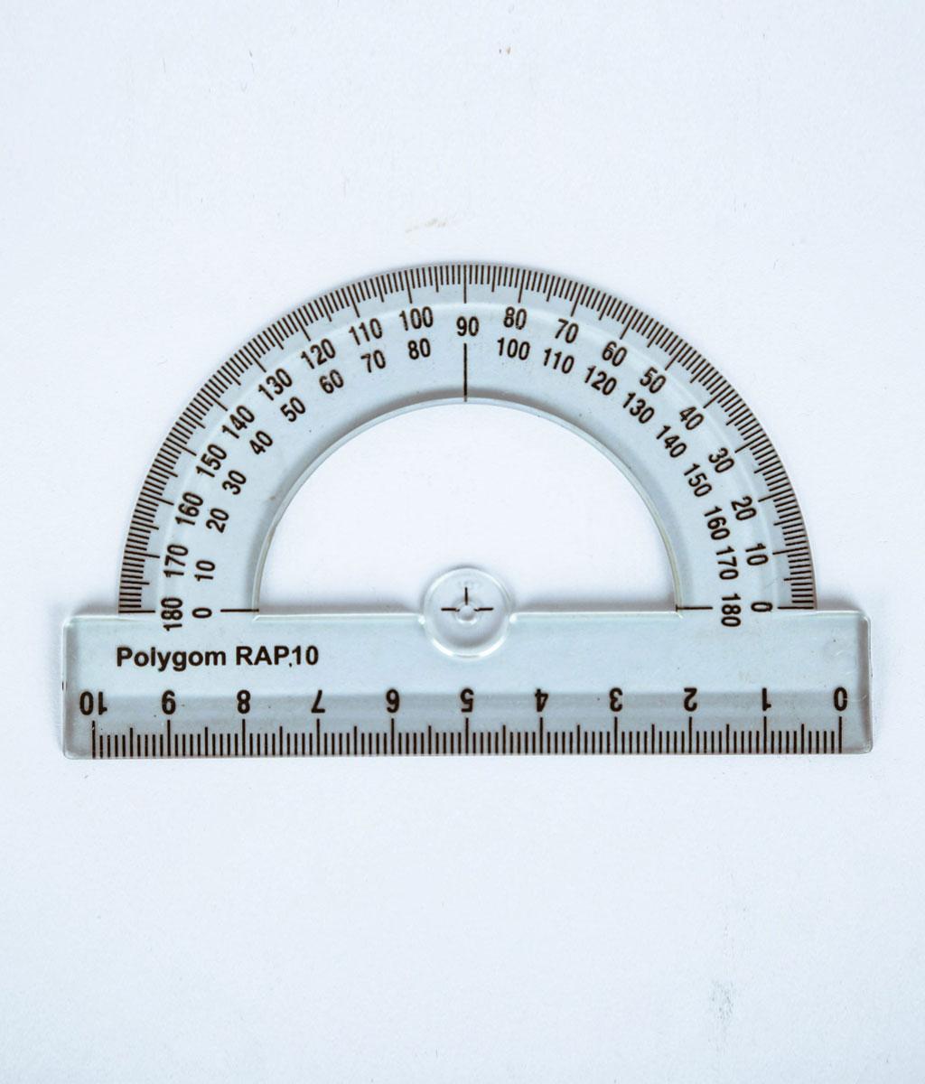 Rapporteur 180° – base 10 cm RAP 10