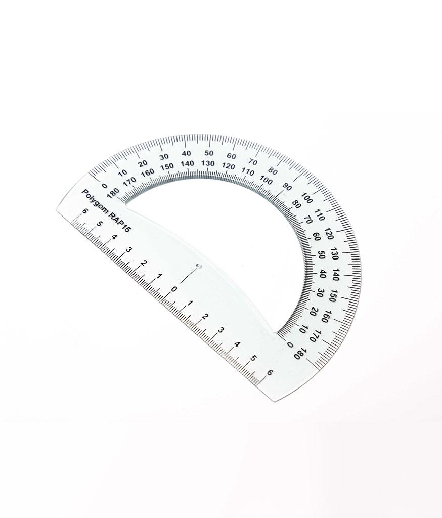 Rapporteur 180° – base 15 cm RAP 15